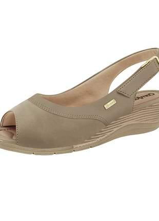 Sandália comfortflex ramarim anabela feminina
