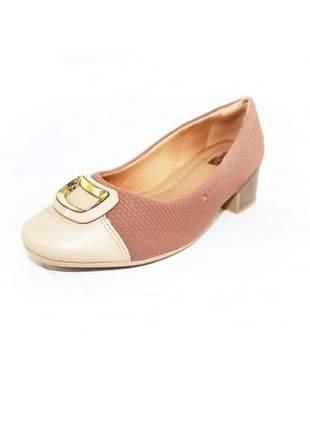 Sapato salto médio comfortflex ramarim croco