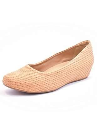 Sapato feminino tamanho grande salto embutido renata della vecchia âmbar