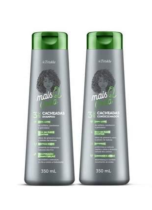 Shampoo e condicionador mais q onda cacheadas triskle