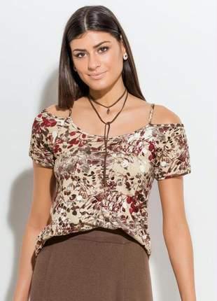 Blusa floral bege