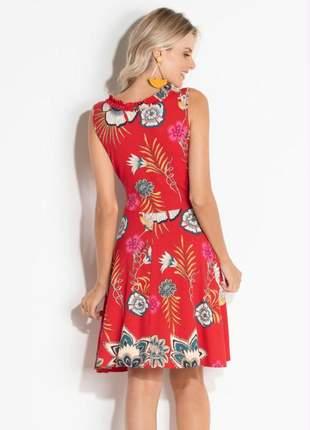 Vestido evasê florido