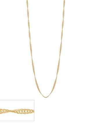 Colar formada por fio cingapura folheado ouro rommanel 50cm
