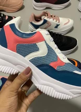 Compartilhar:  tênis casual chunky sneaker - branco/marinho - mybella