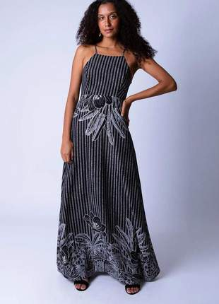 Vestido longo estampa florália