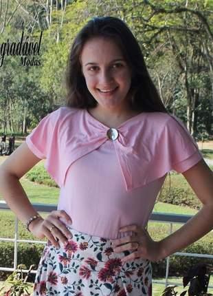 Blusas femininas em malha blusinhas moda evangélica