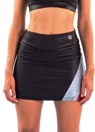 Short saia área de poliamida de qualidade moda fitness