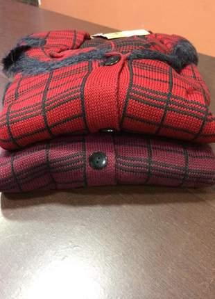 Casaco chanel de tricot angorá