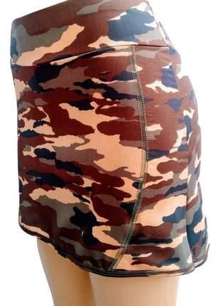Shorts saia camuflado em suplex de qualidade fitness