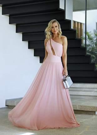 Vestido longo lolita rosa