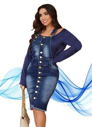 Jardineira jeans elegancia