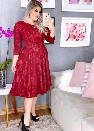 Vestido feminino+cinto brinde boneca rodado prinçesa blogueira  promoção