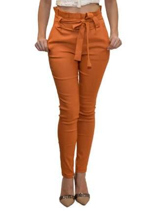 Calça bengaline laranja