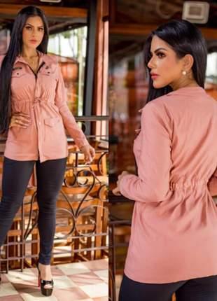 Blusa casaco parka feminina outono inverno