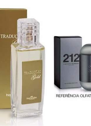 Perfume traduções gold hinode nº 12 - 212 carolina herrera - 100ml