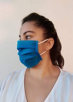 Kit 100 máscaras tnt duplo proteção e cuidado