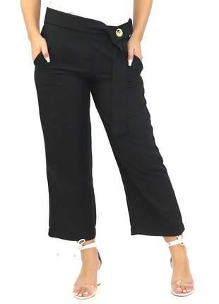 Calça feminina pantalona preta