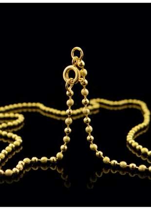 Corrente gargantilha bolinha 45 cm semi jóia - fator 1158