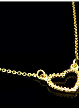 Corrente coração 45 cm semi jóia - fator 0727