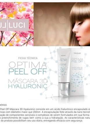 Mascara facial optima pell off 3d hyaluronic