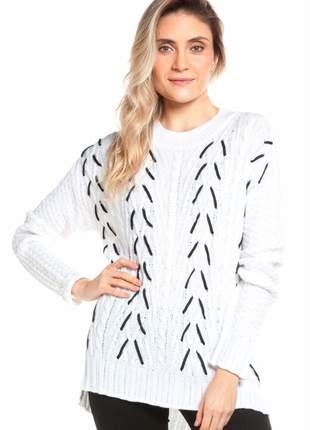 Blusa ralm tricot tramado - off white