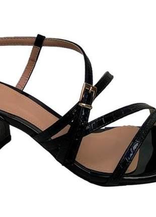 Sandálias femininas croco  bico folha