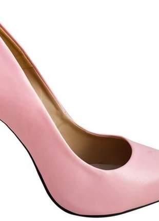 Sapatos femininos scarpins rosa salto 11 cm