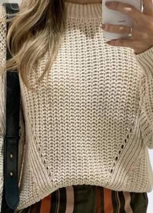 Blusa de tricô. tamanho único