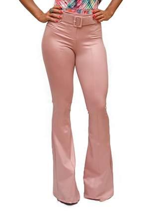 Calça cirrê flare rosê