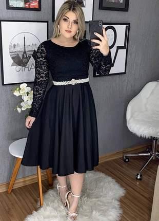 Vestido feminino midi moda evangelica gode festa