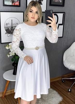 Vestido feminino noiva , casamento civil midi moda crista promoçao