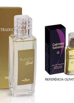 Perfume traduções gold nº 9 gabriela sabatini - 100 ml