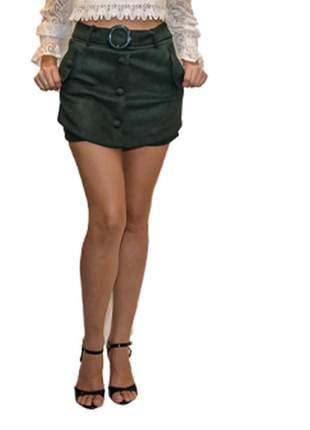 Short saia suede verde