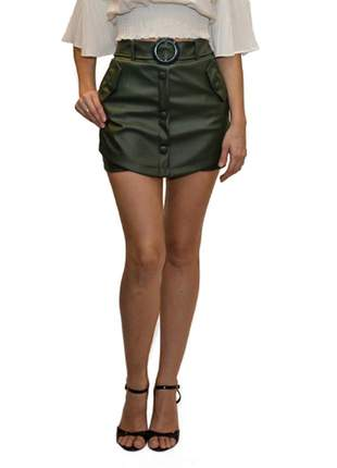 Short saia corino verde