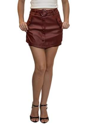 Short saia corino marsala