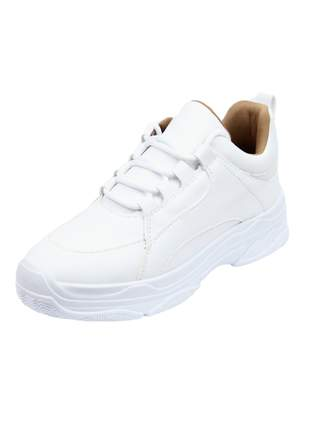 Tênis chunky  feminino  dad sneaker branco