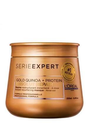 Máscara de tratamento absolut repair gold quinoa + protein l'oréal professionnel