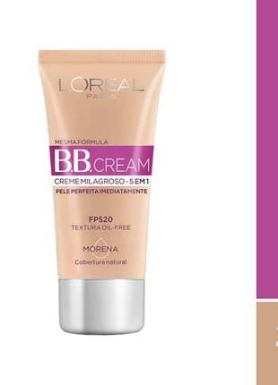 Bb cream l'oréal paris dermo expertise fps20 30ml - cor morena