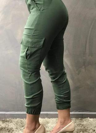Calça feminina jogguer bengaline com bolso