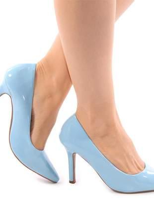 Scarpin azul claro