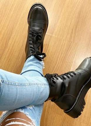 Bota coturno sapato feminino