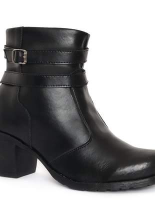 Bota coturno sapato feminino preta