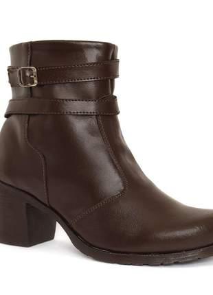 Bota coturno sapato feminino marrom