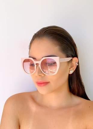 Oculos de sol rosa degradê