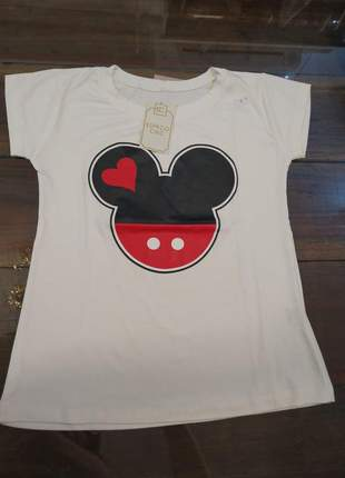 Blusa manga curta t-shirt blusinha casual camiseta miney
