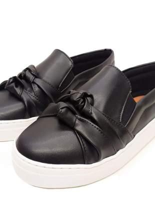 Slip on tênis feminino alpargatas sapatilhas preto  ate 43