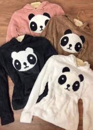 Blusa frio quentinha panda