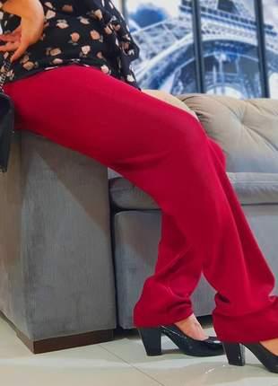 Kit 3 calças malha gorgurão moda senhoras ( cores sortidas )