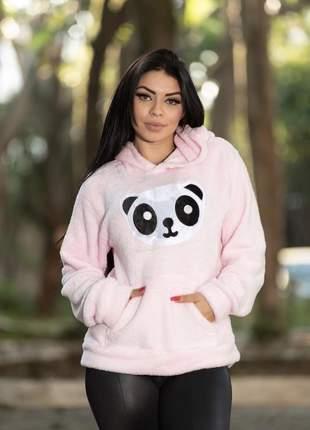 Blusa feminina panda ursinho inverno quentinha