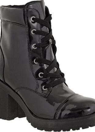 Compartilhar:  bota coturno tratorada preta verniz hbn zíper lateral